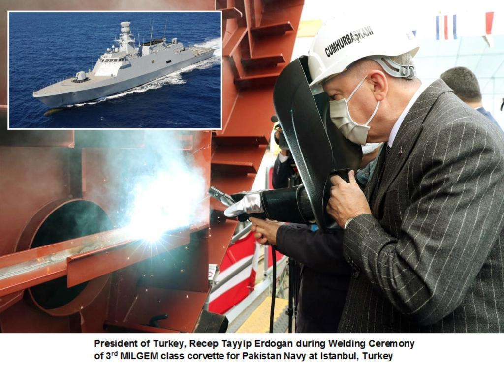 Block welding of the third ship of the MILGEM Class corvettes for the Pakistan Navy is now underway at Istanbul Naval Shipyard (INSY) in Turkey