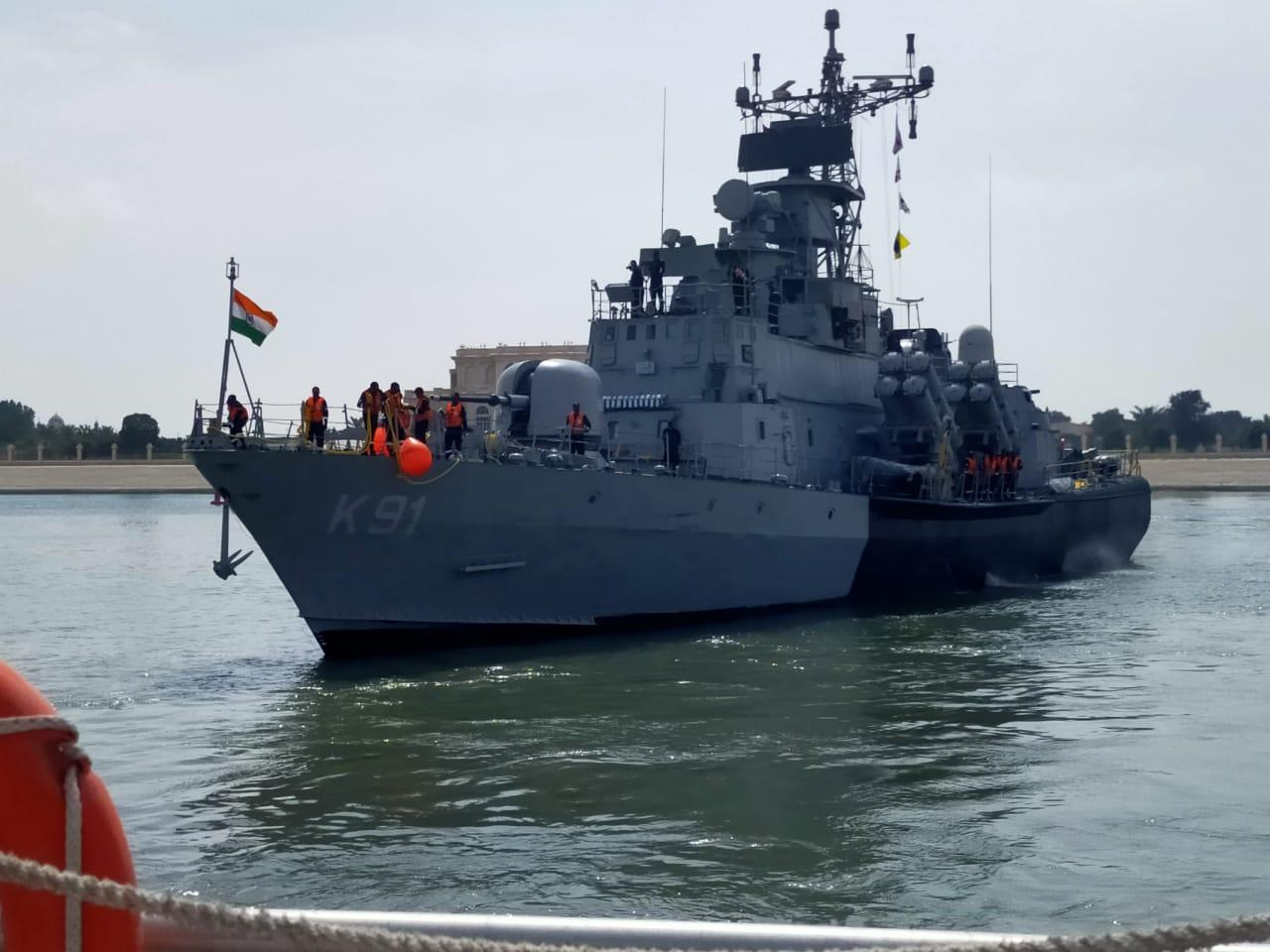 In a manifestation of growing defence relations between the UAE and India, an Indian Navy missile boat, INS Pralaya is participating at the ongoing show.