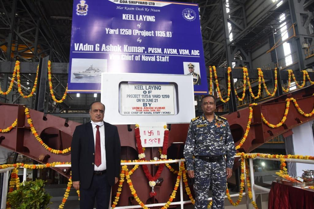 The Keel laying of the second frigate of the Indian Navy's follow-on ship of the Project 1135.6 Class has taken place.